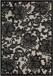 Nourison Graphic Illusions GIL02 PEWTR Pewter Closeout Area Rug