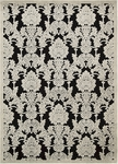 Nourison Graphic Illusions GIL03 BLK Black Closeout Area Rug