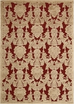 Nourison Graphic Illusions GIL03 RED Red Closeout Area Rug