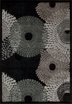 Nourison Graphic Illusions GIL04 BLK Black Area Rug