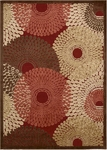 Nourison Graphic Illusions GIL04 RED Red Area Rug