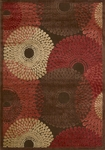Nourison Graphic Illusions GIL04 BRN Brown Closeout Area Rug