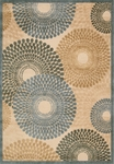 Nourison Graphic Illusions GIL04 TL Teal Closeout Area Rug