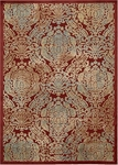 Nourison Graphic Illusions GIL09 RED Red Closeout Area Rug