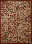 Nourison Graphic Illusions GIL14 RED Red Closeout Area Rug