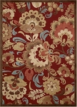 Nourison Graphic Illusions GIL23 RED Red Closeout Area Rug