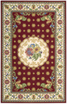 Nourison Country Heritage H301 RED Red Closeout Area Rug