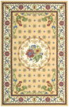 Nourison Country Heritage H301 YEL Yellow Closeout Area Rug