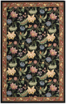 Nourison Country Heritage H320 BLK Black Closeout Area Rug