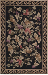 Nourison Country Heritage H322 BLK Black Closeout Area Rug