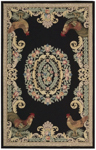 Nourison Country Heritage H691 BLK Black Closeout Area Rug