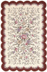 Nourison Country Heritage H722 IBD Ivory/Burgundy Closeout Area Rug