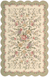 Nourison Country Heritage H722 IGR Ivory/Green Closeout Area Rug
