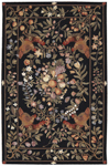 Nourison Country Heritage H723 BLK Black Closeout Area Rug