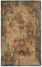 Karastan Antiquity ZS003 A525 Hamedan Distressed Area Rug