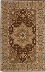 Nourison India House IH66 CHO Chocolate Closeout Area Rug