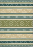 Nourison India House IH84 BLGRE Blue Green Closeout Area Rug