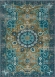 Jaipur Kai KAI05 Modify Deep Teal & Avocado Area Rug