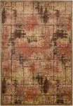 Kathy Ireland Bel Air KI305 BRN Montecito Brown Closeout Area Rug