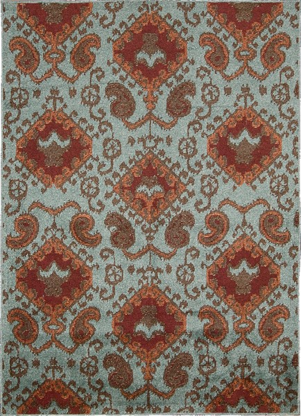Nourison Kindred Kin01 Aqu Aqua Closeout Area Rug Rugs A
