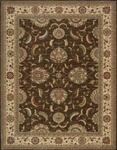 Nourison Living Treasures LI04 BRN Brown Area Rug