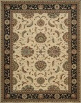 Nourison Living Treasures LI04 IBK Ivory/Black Area Rug