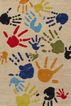 Momeni 'Lil Mo Whimsy LMJ-17 Finger Paint Ivory Area Rug