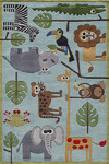 Momeni 'Lil Mo Whimsy LMJ-19 Safari Blue Area Rug
