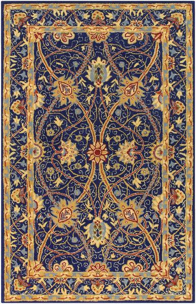 Surya Bob Mackie London Lon 1001 Royal Blue Gold Closeout