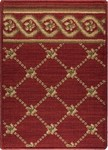 LP03 Flower Trellis Red - Nourison Luxe Pointe Collection - Nourison offers an extraordinary selection of premium broadloom, roll runners, and custom rugs.