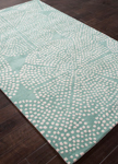 Jaipur En Casa Tufted LST45 Stipple Flower Moonbeam & Cream De Menthe Area Rug