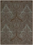 Joseph Abboud Majestic MAJ01 TLCHO Teal/Chocolate Closeout Area Rug