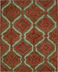 Nourison Tahoe Modern MTA06 BRNRD Brown/Red Closeout Area Rug