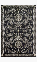 Rifle Paper Co. × Loloi Nairi NAI-02 RP BLACK / IVORY Closeout Area Rug