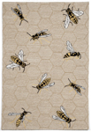 Trans-Ocean Napa 1107/12 Honey Bee Neutral Closeout Area Rug