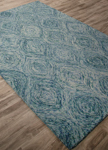 Jaipur National Geographic Home Tufted Premium NTP06 Plume Mineral Blue & Green-Blue Slate Closeout Area Rug