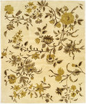 Bashian Everton P122 W304 Peonies Ivory Closeout Area Rug
