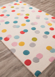 Jaipur Playful PBP03 Confetti Whitecap Gray & Enamel Blue Closeout Area Rug