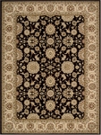 Nourison Persian Crown PC002 BLACK Black Closeout Area Rug