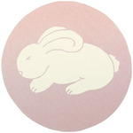 Surya Playground PLY-6000 Pale Pink/White Bunny Closeout Area Rug - Spring 2011