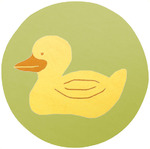 Surya Playground PLY-6005 Pale Green/Yellow Ducky Closeout Area Rug - Spring 2011