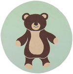 Surya Playground PLY-6006 Light Green/Chocolate Teddy Bear Closeout Area Rug - Spring 2011