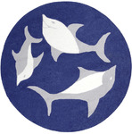 Surya Playground PLY-6011 Blue/Grey Dolphins Closeout Area Rug - Spring 2011