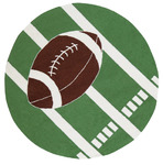 Surya Playground PLY-6018 Green/White Football Closeout Area Rug - Spring 2011