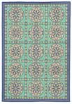 Trans-Ocean Playa 1362/93 Tile Cool Closeout Area Rug