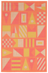 Trans-Ocean Playa 1355/74 Signal Flags Warm Closeout Area Rug