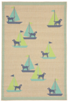 Trans-Ocean Playa 1356/33 Sailing Dogs Cool Closeout Area Rug