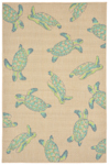 Trans-Ocean Playa 1358/33 Seaturtles Cool Closeout Area Rug
