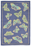 Trans-Ocean Playa 1363/33 Butterfly Cool Closeout Area Rug