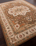 Jaipur Poeme PM49 Chaumont Indian Brown/Cloud White Closeout Area Rug - Spring 2014